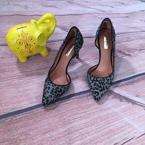 Halogen Leopard Print Stiletto High Heels